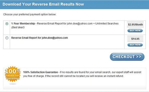Pick a Payment Option and Retrieve Your Results